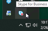 Skype for Business - System Tray