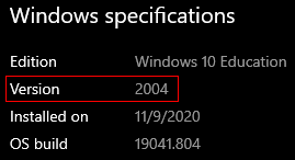 windows specifications