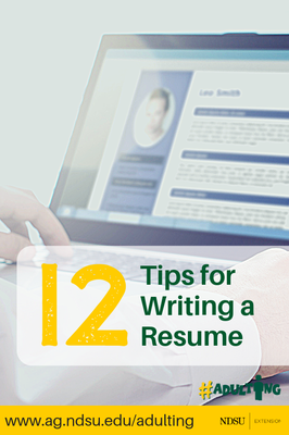 12 Tips for Writing a Resume