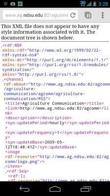 XML error for RSS feed