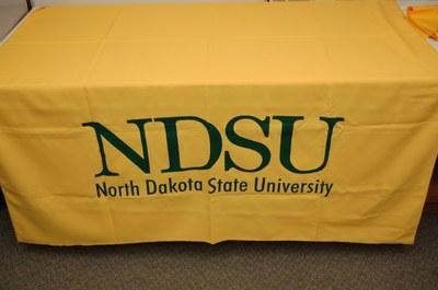 NDSU Logo Yellow Table Cover