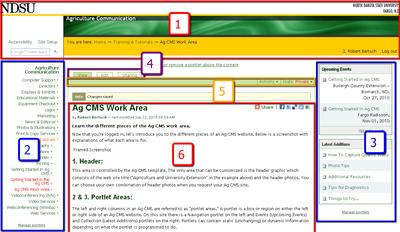 Ag CMS Logged-in Screenshot