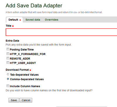 Save Data Adapter