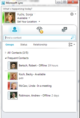 Lync screen shot