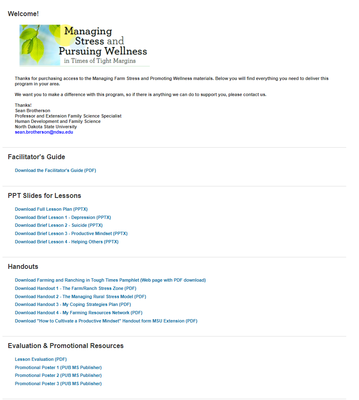 Managing Farm Stress in Catalog