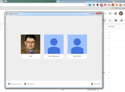 Select Profile in Google Chrome