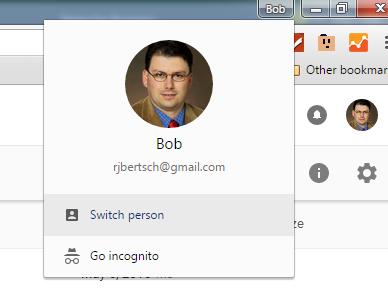 Switch Profiles in Google Chrome