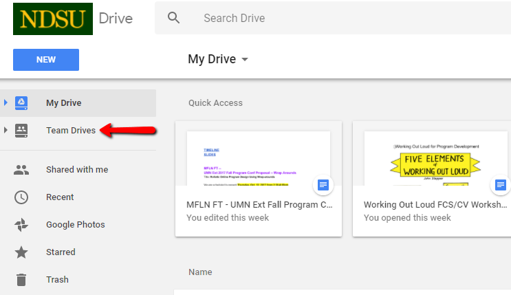 Google Team Drives