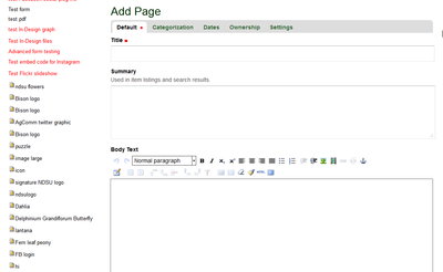 Add a Page in Ag CMS