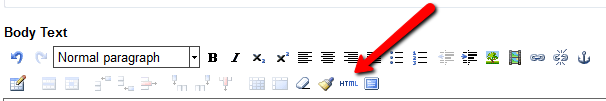 html button in ag cms
