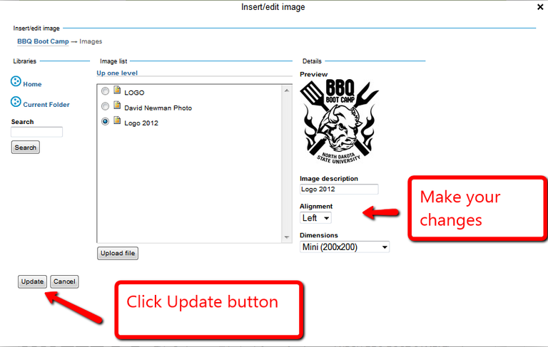 Screen shot of the Save button.