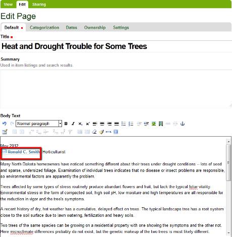 Insert email link screenshot 3 of 3