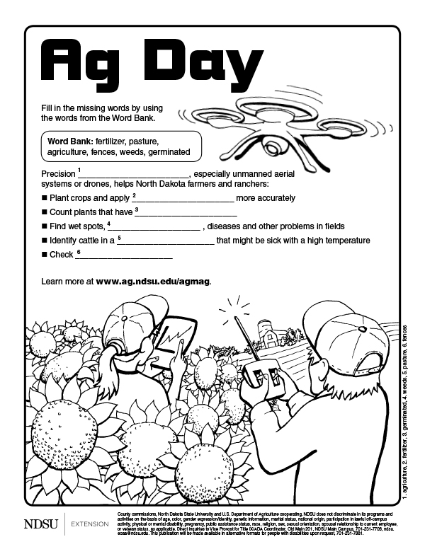 Ag Day Coloring Sheets 1