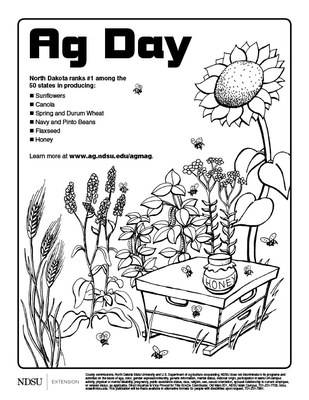 Ag Day coloring sheet