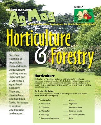 Ag Mag - Horticulture and Forestry cover page
