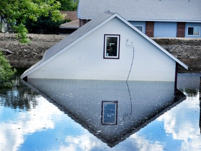 Flooded Home in Minot, ND