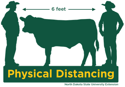 farm safety physical distancing graphic