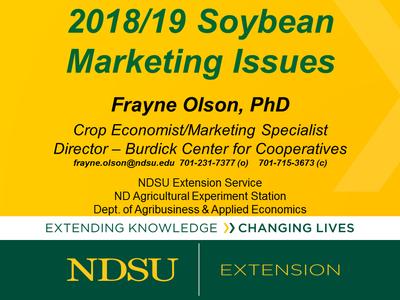 Soybean Marketing