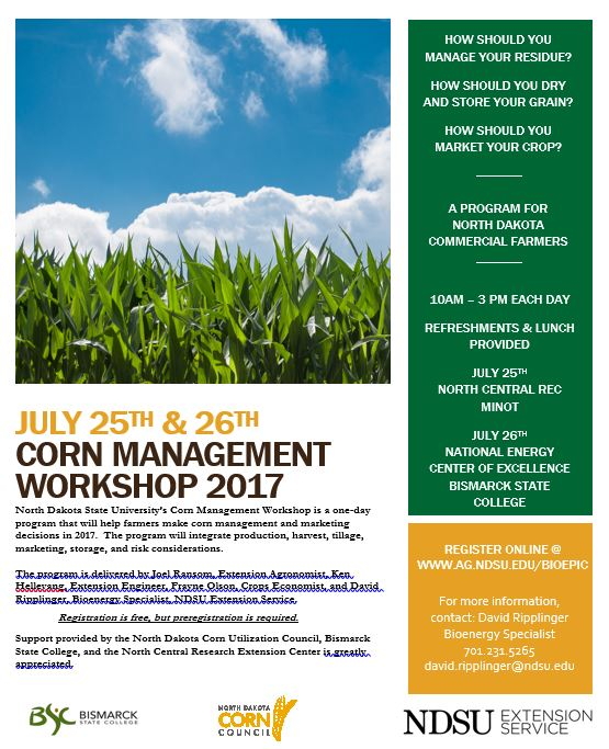 Corn Management Workshop Flyer