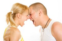 Arguing couple
