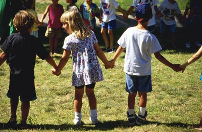 Children Holding Hands in Circle