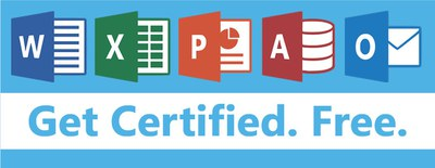 graphic of Microsoft Office Specialist certification program