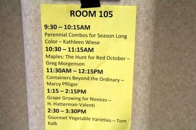 Seminar listing