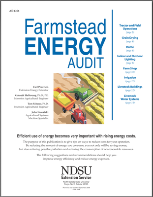 AE-1366 Farmstead Energy Audit