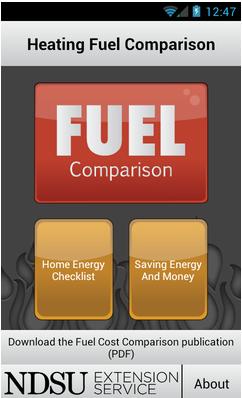NDSU Heating Fuel Comparison app