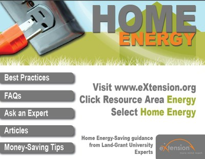 eXtension Home Energy webpage