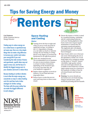Saving Energy for Renters
