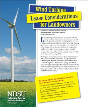 Wind lease publication