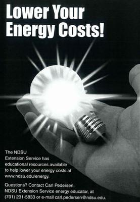 Lower Energy Lightbulb poster