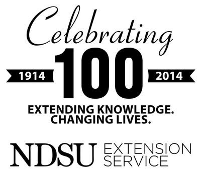 Celebrating 100 NDSU Extension black