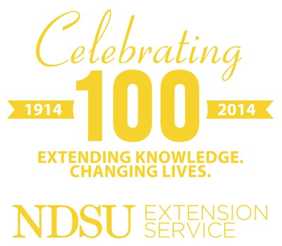 Celebrating 100 NDSU Extension gold
