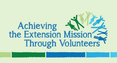 Achieving the Extension Mission through Volunteers logo