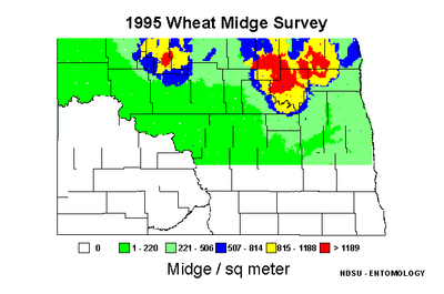 1995 Wheat Midge Map