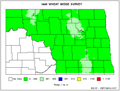 1996 Wheat Midge Map