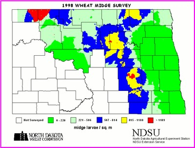 1998 Wheat Midge Map
