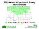 2005 Wheat Midge Map