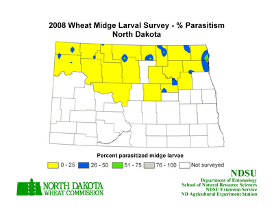 2008 Wheat Parasitoid Map