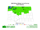 2009 Wheat Midge Map