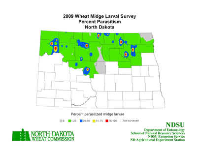 2009 Wheat Parasitoid Map