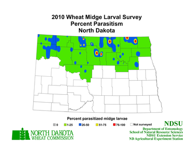 2010 Wheat Parasitoid Map