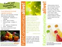 Fruits and Vegetables 4 Table Tent