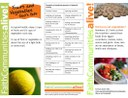 Fruits and Vegetables 6 Table Tent