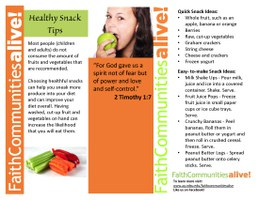 Healthy Snack Tips Table Tent