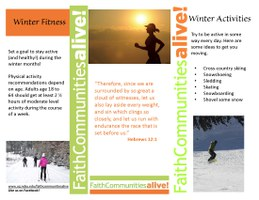 Winter Fitness 2 Table Tent