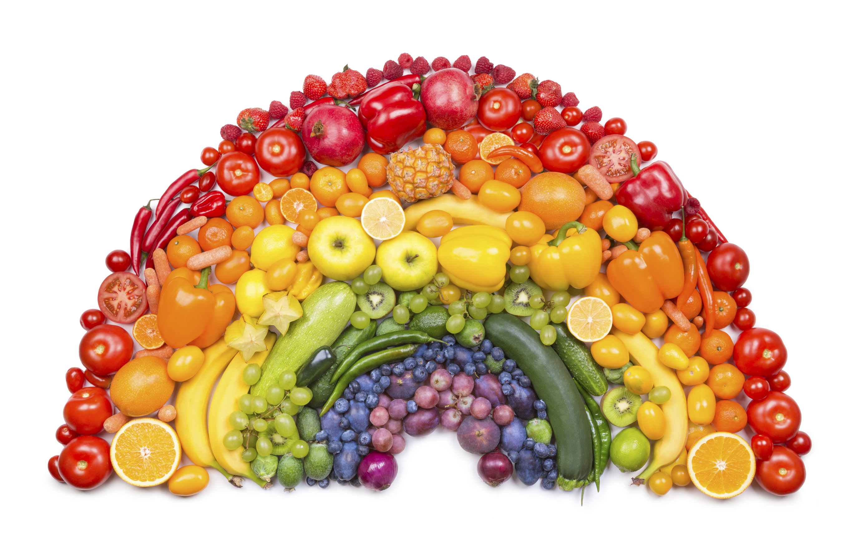 Eat a Rainbow of Colorful Fruits and Veggies
