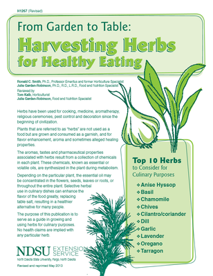 Garden to Table: Herbs
